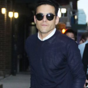 Rami Malek Wore a Black-and-Navy Outfit in New York City
